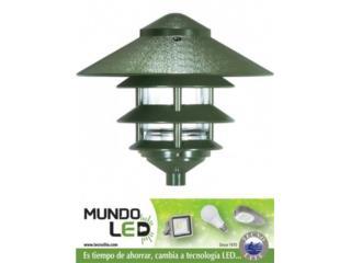 LAMPARA LED JARDIN PAGODA GRANDE CON HOOD, Puerto Rico