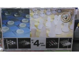 GENERIC 4 GAMES SET GLASS, Puerto Rico