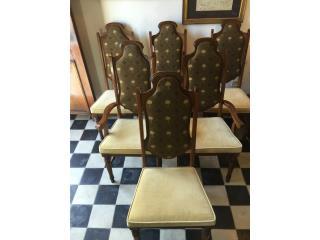 4 sillas Vintage Años 80. Tapizado nuevo, Puerto Rico