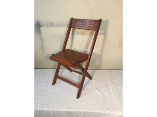 1940's Folding Chairs. Roble. Oak, Puerto Rico