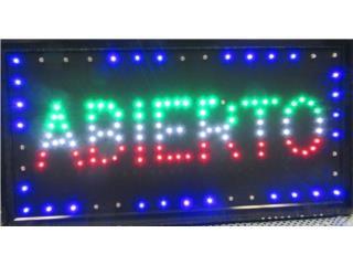 LED Letrero Abierto, Puerto Rico