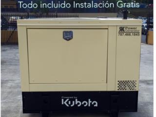Kubota 12,15,20 y 30 con instalación incluida, Puerto Rico