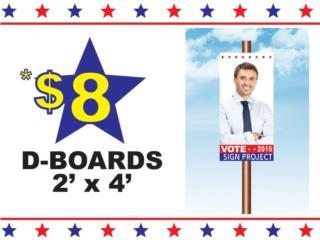 D.Boards 2' x 4' , Puerto Rico