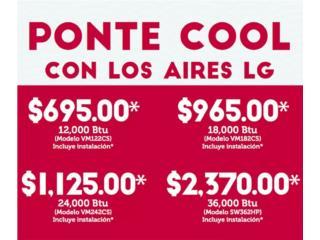 LG INVERTER 10 A�OS GARANTIA, Puerto Rico