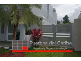 Porton Lateral de patio color gris combinado, Puerto Rico