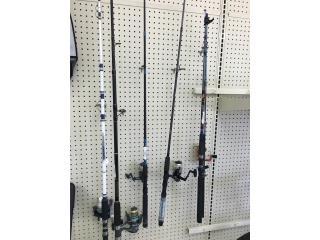 Variedad en equipos de pesca, Puerto Rico