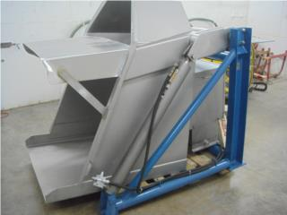 Stainless Steel gaylord box unloader tipper , Puerto Rico