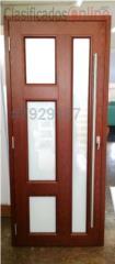 Puerta Heavy Duty Seg. Aluminio Madera 38x84, Puerto Rico