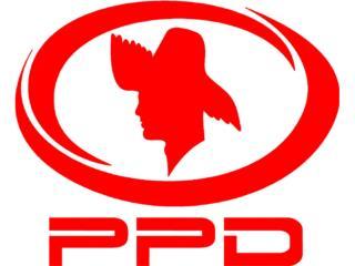 GRATIS PPD logo Sticker Calcomania Politica, Puerto Rico