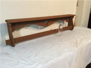 American Country Style Hanging Rod and Shelf, Puerto Rico