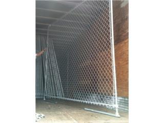 Verjas Ciclon Fence con tubos y bases, Puerto Rico