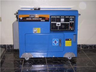 Plantas Electricas Diesel 6.5 kw nuevas, Puerto Rico