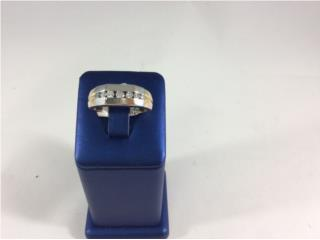 Sortija con diamantes de caballero 2tonos, Puerto Rico