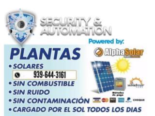 Planta Electrica de Placas Solares y Baterias, Puerto Rico