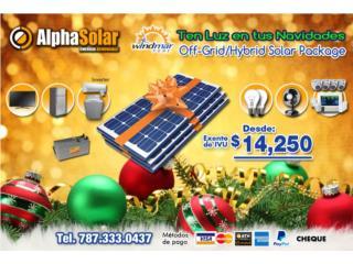 Energia solar sin combustble sin ruido, Puerto Rico