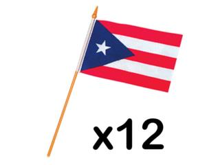 Puerto Rico Flags Polyester 12 x 18 IN., Puerto Rico