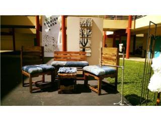 Juego patio madera reciclada, Puerto Rico