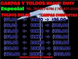 Especial Carpas y Toldos Heavy Duty , Puerto Rico