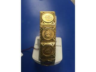 MEXICAN COINS BRACELET 18KT 40.7P/W, Puerto Rico