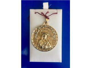 Gold Christian Medallion: 5.5G 14K, Puerto Rico