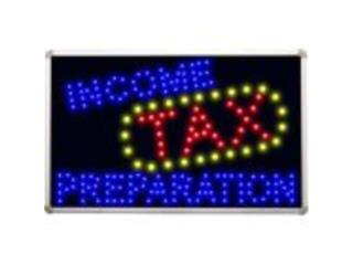 LED Sign Income Tax Preparation, Puerto Rico