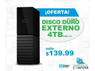 WD 4TB My Book Desktop External Hard Drive , Puerto Rico