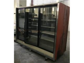 Nevera o congelador 3 puertas cristal usado, Puerto Rico