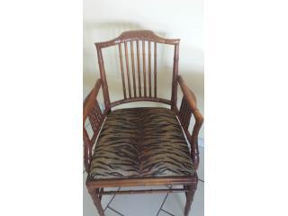2 sillas de madera tallada, primera calidad, Puerto Rico