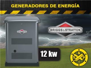 Prepárate con Generadores de Gas (12kw), Puerto Rico