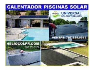 CALENTADOR SOLAR PARA PISCINAS @ HELIOCOL , Puerto Rico