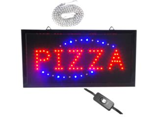 LED Sign Pizza 19, Puerto Rico