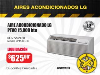AIRE ACONDICIONADO LG PTAC 15,000 btu, Puerto Rico