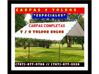 CARPAS TOLDOS HEAVY DUTY, Puerto Rico