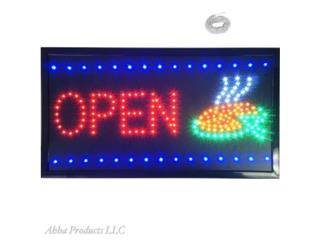 LED Open Pizza Sign 24 x 13, Puerto Rico