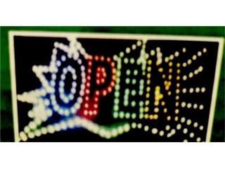 LED Open Splash Sign 19 x 10, Puerto Rico