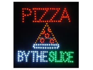 LED Pizza By The Slice Sign 19 x 19, Puerto Rico