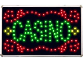 LED Casino Neon Sign 16 x 10, Puerto Rico