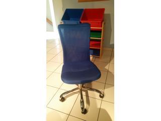 Blue Desk Chair, Puerto Rico