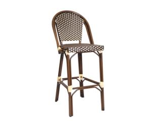 Bamboo Barstool in aluminum for outdoor, Puerto Rico