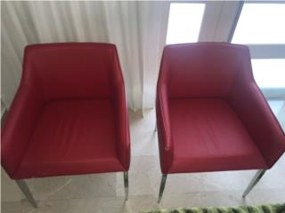 sillas rojas, Puerto Rico