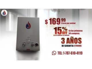 calentadores de linea baterias D, Puerto Rico