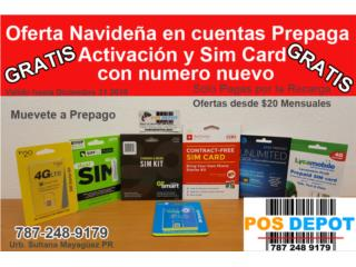 GRATIS Activación y Sim Card , Puerto Rico