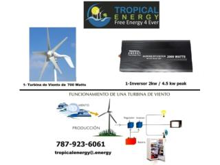 Kit Molino 700 W Inversor 2000 W, Puerto Rico