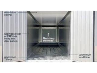 Contenedores aislado de aluminio 40', Puerto Rico