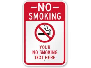NO SMOKING SIGNS / ROTULACION INTERIOR, Puerto Rico