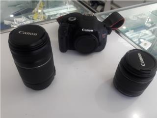 camara canon 2 lentes 55-250mm 15-55mm, Puerto Rico
