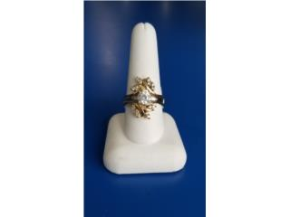 Lady's Stone Ring: 5.5D 14K-Y/G,, Puerto Rico