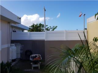 Verjas en PVC- Modelo Full Privacy, Puerto Rico