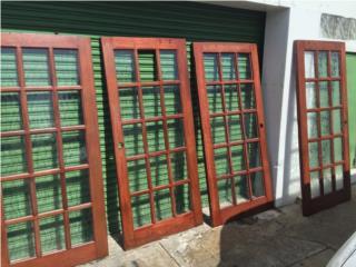 """(4) Puertas Francesas Cedro 36"""" x 80"""", Puerto Rico"""