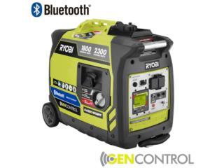 Generador Inverter Ryobi 2300W Bluetooth, Puerto Rico